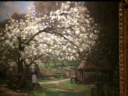 Sisley at the Bruce Art Museum in Greenwich-- Peasant under Trees