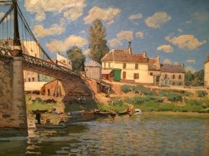 Sisley at the Bruce Museum - Bridge at Villeneuve-la-gar