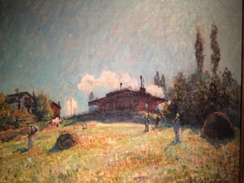 Sisley at the Bruce Museum in Greenwich -- Sevres Railroad Station