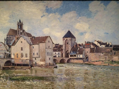 Sisley at the Bruce Museum in Greenwich-jThe Bridge at Moret